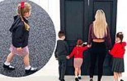 Christine McGuinness gets emotional as her youngest child Felicity, five, heads ...