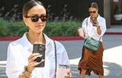 Jessica Alba looks every inch a beauty boss as she heads into the office ...