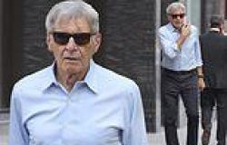 Harrison Ford, 79, cuts a casual figure as he visits wine shop in Mayfair