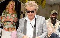 Rod Stewart, 76, is photobombed by boxer Derek Chisora as he leaves Scott's ...