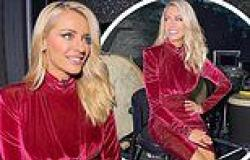 Strictly Come Dancing host Tess Daly stuns in a thigh-skimming velvet dress